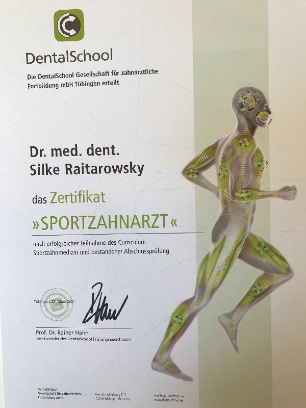Sportzahnmedizin Dr. Raitarowsky Bad Homburg